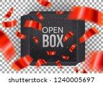 black empty open box with... | Shutterstock .eps vector #1240005697