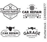 set of vintage monochrome car... | Shutterstock .eps vector #1240008277