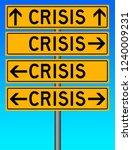 crisis in finance  environment... | Shutterstock . vector #1240009231