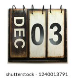 december 3 with vintage... | Shutterstock . vector #1240013791