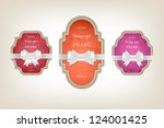 two vector vintage style... | Shutterstock .eps vector #124001425