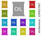 oil barrel icon in multi color. ...
