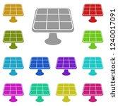solar panels icon in multi...