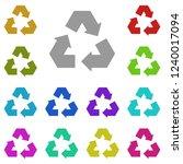 recycling symbol icon in multi...