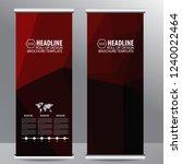 roll up business brochure flyer ... | Shutterstock .eps vector #1240022464