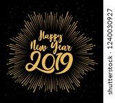 happy typographical 2019 new... | Shutterstock . vector #1240030927