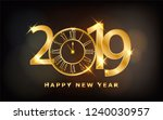 happy new year 2019   new year... | Shutterstock .eps vector #1240030957