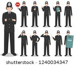 police people concept. detailed ... | Shutterstock .eps vector #1240034347