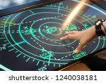 hand of man control airviation... | Shutterstock . vector #1240038181