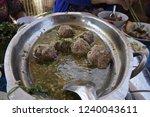 vietnamese meat ball  xiu mai . ...   Shutterstock . vector #1240043611