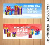 happy boxing day sale design... | Shutterstock .eps vector #1240047964