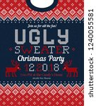 ugly sweater  mas christmas... | Shutterstock .eps vector #1240055581