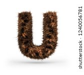 uppercase fluffy and furry font ... | Shutterstock . vector #1240056781