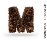 uppercase fluffy and furry font ... | Shutterstock . vector #1240056931