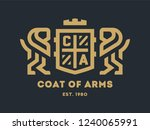 coat of arms with two lions and ... | Shutterstock .eps vector #1240065991
