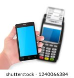 mobile payment trough pos... | Shutterstock .eps vector #1240066384