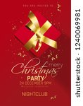 merry christmas party  flyer... | Shutterstock .eps vector #1240069981