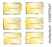 set of brush stroke frame  gold ... | Shutterstock .eps vector #1240070167