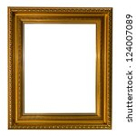Gold Picture Frame Isolated On...