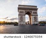 arch of triumph  arc de...   Shutterstock . vector #1240075354
