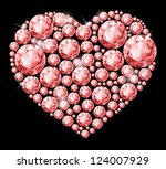 heart of diamonds.on black... | Shutterstock .eps vector #124007929