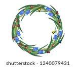 muscari flowers butterflies... | Shutterstock .eps vector #1240079431