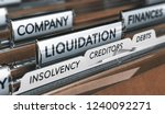 company liquidation concept....   Shutterstock . vector #1240092271