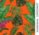 watercolor seamless pattern... | Shutterstock . vector #1240104637