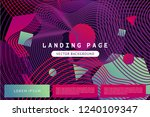 landing page template with... | Shutterstock .eps vector #1240109347