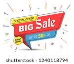 banner  sale banner template in ... | Shutterstock .eps vector #1240118794
