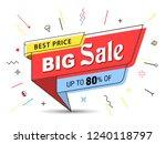 banner  sale banner template in ... | Shutterstock .eps vector #1240118797