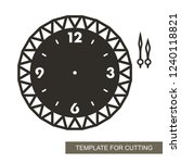 openwork dial with arrows and... | Shutterstock .eps vector #1240118821