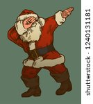 santa claus dabbing vintage... | Shutterstock .eps vector #1240131181