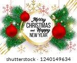 christmas vector background... | Shutterstock .eps vector #1240149634