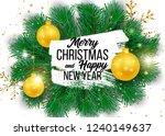 christmas vector background... | Shutterstock .eps vector #1240149637