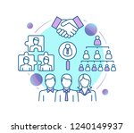 teamwork concept icon.... | Shutterstock .eps vector #1240149937