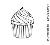 cupcake vector illustration.... | Shutterstock .eps vector #1240152994