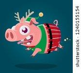 funny cartoon illustration of a ... | Shutterstock .eps vector #1240155154