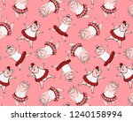 seamless abstract pattern with... | Shutterstock .eps vector #1240158994