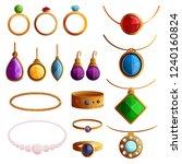 jewellery icon set. cartoon set ...   Shutterstock .eps vector #1240160824