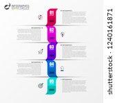 infographic design template....   Shutterstock .eps vector #1240161871