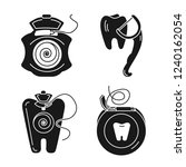 floss icon set. simple set of... | Shutterstock .eps vector #1240162054