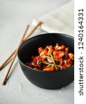 spicy chicken in sweet and sour ...   Shutterstock . vector #1240164331