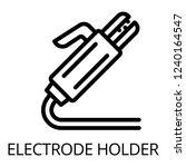 welding electrode holder icon....   Shutterstock .eps vector #1240164547