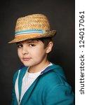 portrait of beautiful little... | Shutterstock . vector #124017061