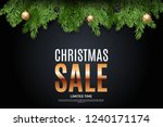 christmas and new year sale... | Shutterstock .eps vector #1240171174