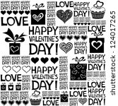 happy valentine's day.... | Shutterstock .eps vector #124017265