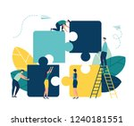 business concept. team metaphor.... | Shutterstock .eps vector #1240181551
