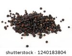 dry juniper fruit isolated on a ... | Shutterstock . vector #1240183804