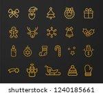 modern golden christmas icon set | Shutterstock .eps vector #1240185661